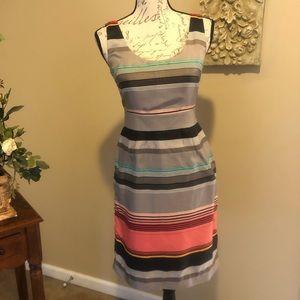 Banana Republic Silk Sheath Dress W/ Pockets SZ 0P